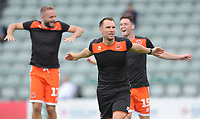 Blackpool Fitness Coach Phil Greenwood during the pre-match warm-up <br /> <br /> Photographer Kevin Barnes/CameraSport<br /> <br /> The EFL Sky Bet League One - Plymouth Argyle v Blackpool - Saturday 15th September 2018 - Home Park - Plymouth<br /> <br /> World Copyright &copy; 2018 CameraSport. All rights reserved. 43 Linden Ave. Countesthorpe. Leicester. England. LE8 5PG - Tel: +44 (0) 116 277 4147 - admin@camerasport.com - www.camerasport.com