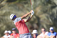 Kurt Kitayama (USA) on the 14th tee during the 3rd round of the Abu Dhabi HSBC Championship, Abu Dhabi Golf Club, Abu Dhabi,  United Arab Emirates. 18/01/2020<br /> Picture: Fran Caffrey | Golffile<br /> <br /> <br /> All photo usage must carry mandatory copyright credit (© Golffile | Fran Caffrey)