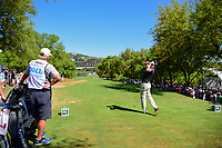 Zach Johnson (USA) watches his tee shot on 11 during round 4 of the World Golf Championships, Dell Technologies Match Play, Austin Country Club, Austin, Texas, USA. 3/25/2017.<br /> Picture: Golffile | Ken Murray<br /> <br /> <br /> All photo usage must carry mandatory copyright credit (&copy; Golffile | Ken Murray)