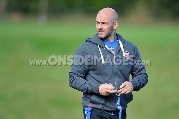 High Performance Manager Allan Ryan looks on. Bath Rugby pre-season training session on August 18, 2014 at Farleigh House in Bath, England. Photo by: Patrick Khachfe/Onside Images