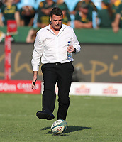 PRETORIA, SOUTH AFRICA - OCTOBER 06: Rassie Erasmus, Head Coach of South Africa during the Rugby Championship match between South Africa Springboks and New Zealand All Blacks at Loftus Versfeld Stadium. on October 6, 2018 in Pretoria, South Africa. Photo: Steve Haag / stevehaagsports.com