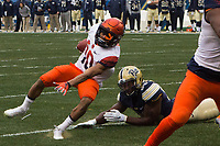 Syracuse wide receiver Sean Riley. The Pitt Panthers defeated the Syracuse Orange 76-61 at Heinz Field in Pittsburgh, Pennsylvania on November 26, 2016.