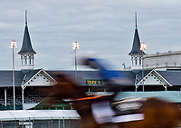 LOUISVILLE, KENTUCKY - MAY 01: Horses workout in the early morning during Kentucky Derby and Oaks preparations at Churchill Downs on May 1, 2017 in Louisville, Kentucky. (Photo by Scott Serio/Eclipse Sportswire/Getty Images)