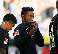 celebrate the goal, Torjubel zum 3:0 von Jonathan de Guzman (Eintracht Frankfurt)  - 30.09.2018: Eintracht Frankfurt vs. Hannover 96, Commerzbank Arena, DISCLAIMER: DFL regulations prohibit any use of photographs as image sequences and/or quasi-video.