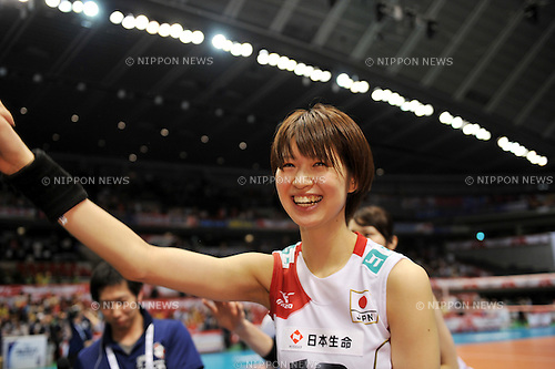 Saori Kimura (JPN),.MAY 27, 2012 - Volleyball : FIVB the Women's World Olympic Qualification Tournament for the London Olympics 2012, between Japan 2-3 Serbia at Tokyo Metropolitan Gymnasium, Tokyo, Japan. (Photo by Jun Tsukida/AFLO SPORT) [0003]..
