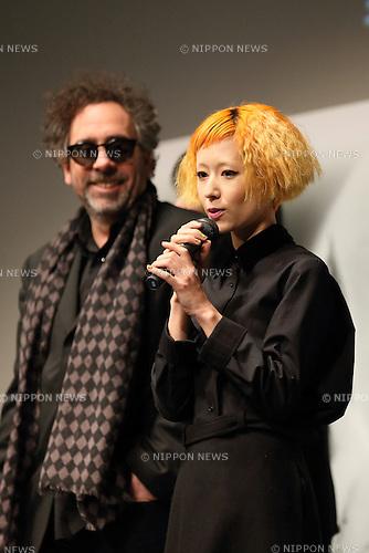 Kaela Kimura and Tim Burton, Dec 05, 2012 : Kimura Kaera, Tim Burton attend Frankenweeny fashion contest on 5 Dec Tokyo Japan