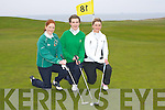 TROPHY: Competing in the AIB Perpetual Trophy at Tralee Golf Club on Saturday morning were l-r: Avril Peevers (Tralee), Deirdre Lawlor (Ardfert) and Emma O'Driscoll (Ballybunion).   Copyright Kerry's Eye 2008