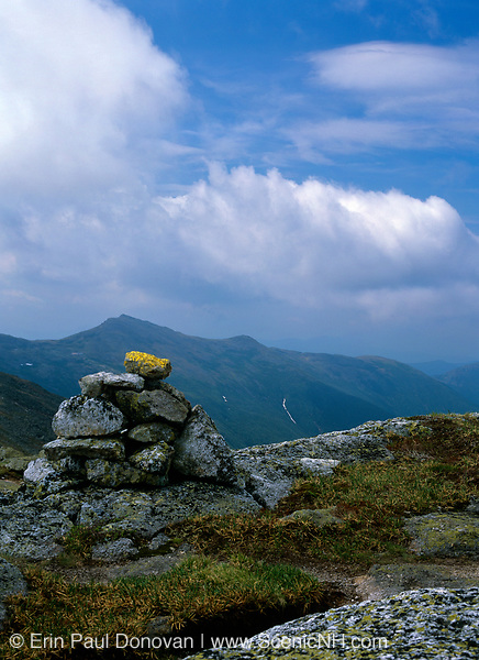 Southern Presidential Range from Clay Loop Trail in Thompson and Meserve's Purchase in the New Hampshire White Mountains on a cloudy day.
