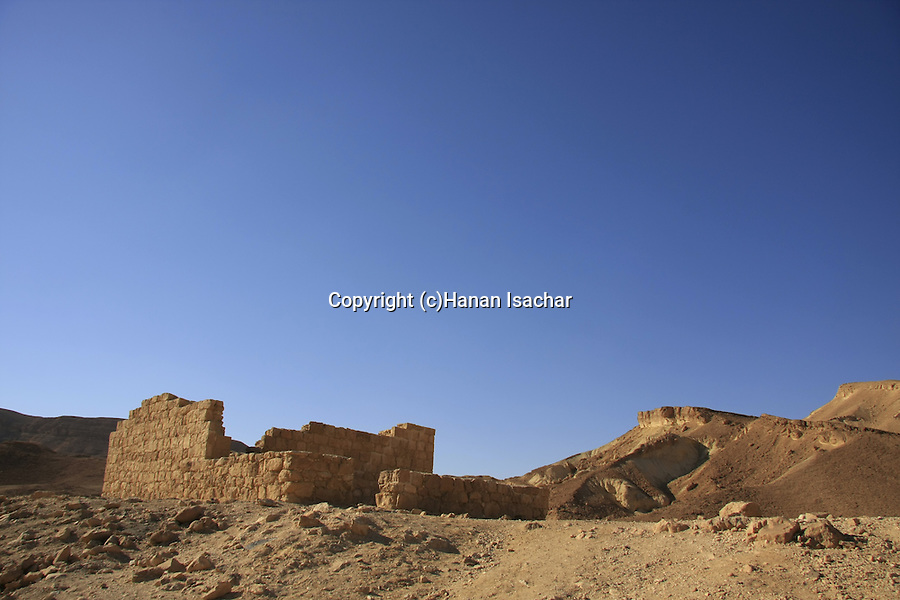 Israel, Negev, Nekarot Fortress on the ancient Incense Route, a World Heritage Site