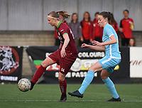Beker van Belgie Vrouwen <br /> 1/2 finale : SV Zulte Waregem - AA Gent Ladies :<br /> Jolien Martens (L) is sneller op de bal dan Silke Vanwynsberghe (R)<br /> <br /> Foto VDB / Bart Vandenbroucke