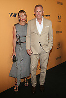 LOS ANGELES, CA - JUNE 11: Christine Baumgartner, Kevin Costner, at the premiere of Yellowstone at Paramount Studios in Los Angeles, California on June 11, 2018. <br /> CAP/MPI/FS<br /> &copy;FS/MPI/Capital Pictures