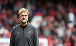 Liverpool's Jurgen Klopp looks on during the premier league match at the Anfield Stadium, Liverpool. Picture date 19th August 2017. Picture credit should read: David Klein/Sportimage