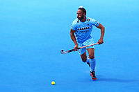 India's Sardar Singh in action during the Hockey World League Semi-Final match between Pakistan and India at the Olympic Park, London, England on 18 June 2017. Photo by Steve McCarthy.