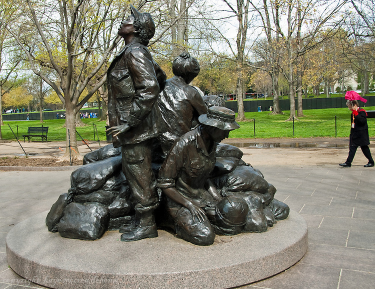 Washington DC Monuments and Memorials Vietnam Memorial for the Combat Nurses