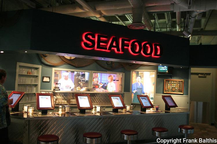 seafood bar at Monterey Bay Aquarium