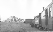 &quot;Looking west at Cumbres, Colo.&quot;  #476 with San Juan stopped at Cumbres.<br /> D&amp;RGW  Cumbres, CO  Taken by Vollrath, Harold K. - 5/1946