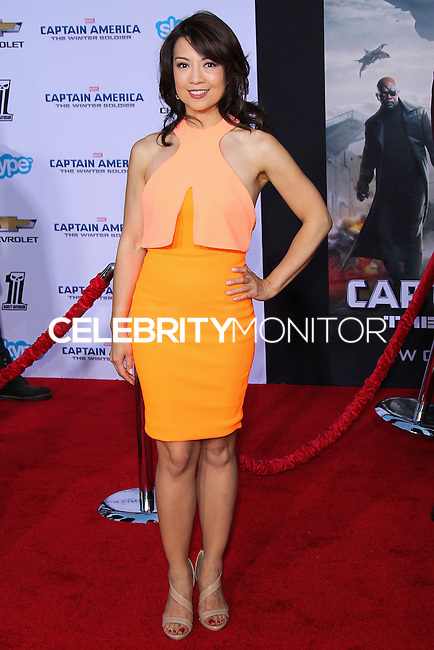 "HOLLYWOOD, LOS ANGELES, CA, USA - MARCH 13: Ming-Na Wen at the World Premiere Of Marvel's ""Captain America: The Winter Soldier"" held at the El Capitan Theatre on March 13, 2014 in Hollywood, Los Angeles, California, United States. (Photo by Xavier Collin/Celebrity Monitor)"