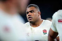 Kyle Sinckler of England looks on after the match. Old Mutual Wealth Series International match between England and South Africa on November 12, 2016 at Twickenham Stadium in London, England. Photo by: Patrick Khachfe / Onside Images