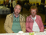 Tom and Marie Johnston enjoy a cup of tea after Fr Sean Dooley's 25th anniversary mass at the Church of Our Lady of the Assumption Tullyallen. Photo:Colin Bell/pressphotos.ie