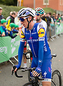 6th September 2017, Mansfield, England; OVO Energy Tour of Britain Cycling; Stage 4, Mansfield to Newark-On-Trent;  Dan Martin of Quick Step Floors is happy with todays win by team-mate Fernando Gaviria