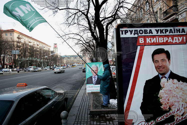 Electioneering on the streets of Kiev, two weeks before Ukraine's parliamentary elections.