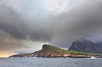 Stormy clouds over Isabella Island, Galapagos Islands, Ecuador.