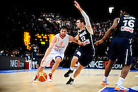 Sergio LLULL / Nando DE COLO - 15.07.2012 - France / Espagne - Match de preparation JO 2012 -Paris..Photo : Amandine Noel / Icon Sport
