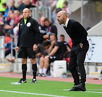 Rotherham United manager Paul Warne shouts instructions to his team from the technical area<br /> <br /> Photographer Chris Vaughan/CameraSport<br /> <br /> The EFL Sky Bet Championship - Rotherham United v Lincoln City - Saturday 10th August 2019 - New York Stadium - Rotherham<br /> <br /> World Copyright © 2019 CameraSport. All rights reserved. 43 Linden Ave. Countesthorpe. Leicester. England. LE8 5PG - Tel: +44 (0) 116 277 4147 - admin@camerasport.com - www.camerasport.com