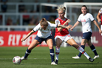 Coral-Jade Haines of Tottenham and Leah Williamson of Arsenal during Arsenal Women vs Tottenham Hotspur Women, Friendly Match Football at Meadow Park on 25th August 2019