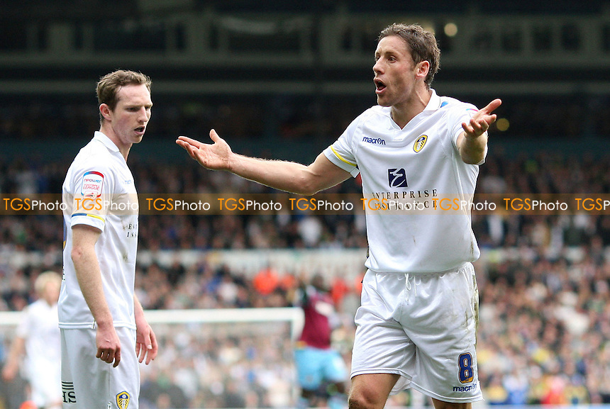 Michael Brown pleads his innocence after the Leeds midfileder had taken down Gary O'Neil of West Ham - Leeds United vs West Ham United, npower Championship at Elland Road, Leeds - 17/03/12 - MANDATORY CREDIT: Rob Newell/TGSPHOTO - Self billing applies where appropriate - 0845 094 6026 - contact@tgsphoto.co.uk - NO UNPAID USE..