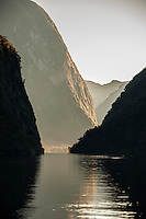 Hall Arm in Doubtful Sound, Fiorldland National Park, South Island, New Zealand - stock photo, canvas, fine art print