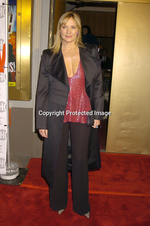 "Kim Cattrall ..at the Broadway Opening of "" Mario Cantone: Laugh Whore""  on October 24, 2004 at the Cort Theatre. ..Photo by Robin Platzer, Twin Images .."