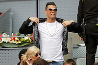 Real Madrid's player Cristiano Ronaldo during Madrid Open Tennis 2016 match.May, 6, 2016.(ALTERPHOTOS/Acero) /NortePhoto