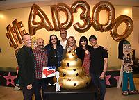 "LOS ANGELES - MAY 21: (L-R) Dee Bradley Baker, Matt Weitzman, EP/Co-Creator/Showrunner, Kara Vallow, Producer, Brian Boyle, EP/Showrunner, Wendy Schaal, Rachael MacFarlane, and Jeff Fischer attend the 300th episode table ready and cake cutting celebration for 20th Century Fox Television's ""American Dad"" on May 21, 2019 in Los Angeles, California. (Photo by Frank Micelotta/20th Century Fox Television/PictureGroup)"