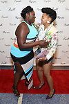 Danielle Brooks and Crystal Dickinson attends the Opening Night Performance of the Playwrights Horizons world premiere production of 'Log Cabin' on June 25, 2018 at Playwrights Horizons in New York City.