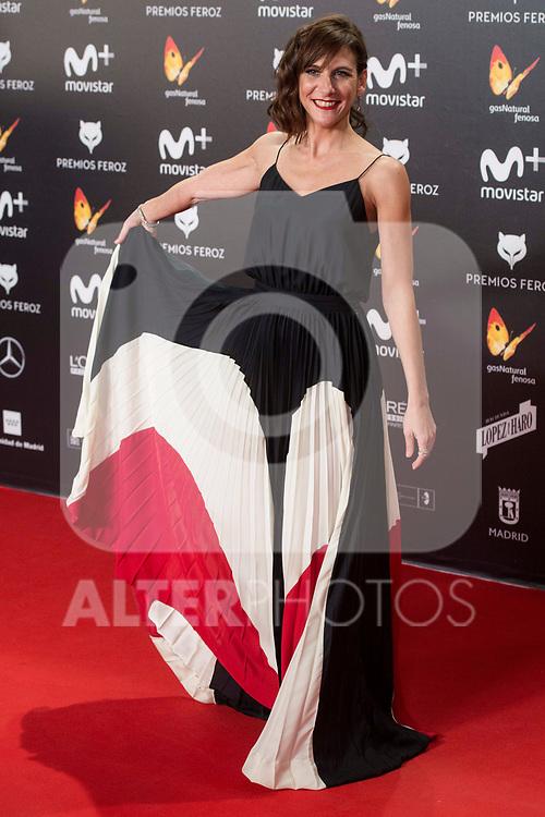 Malena Alterio attends red carpet of Feroz Awards 2018 at Magarinos Complex in Madrid, Spain. January 22, 2018. (ALTERPHOTOS/Borja B.Hojas)