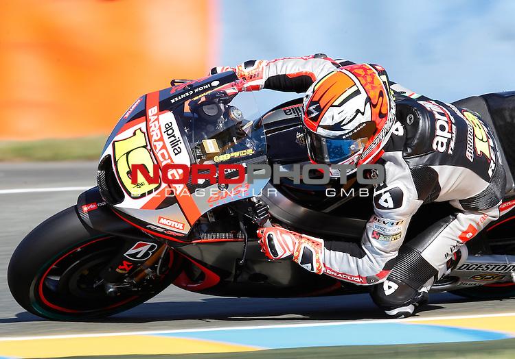 Monster Energy Grand Prix de France in Le Mans 14.-17.05.2015, Free Practice<br /> <br /> 19 Alvaro Bautista / Spanien<br /> <br /> Foto &copy; nordphoto / FSA