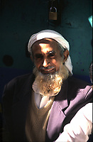 Yemen Sana'a,.men  with barber portrait