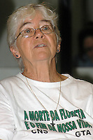 Dorothy Stang durante entrevista após receber a medalha Paulo Frota na Assembléia Legislativa do Estado, por sua luta a favor dos direitos humanos. <br />