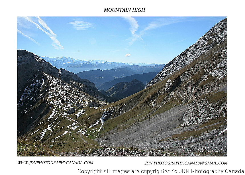 Mount Pilatus and the surrounding Valley