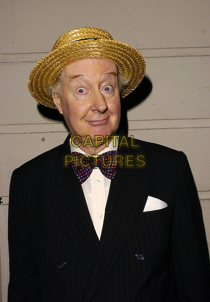 JONATHAN CECIL.At The Sir John Betjeman Gala,.Prince Of Wales Theatre, Coventry Street, London, .September 10th 2006..half length hat straw bowtie funny.Ref: CAN.www.capitalpictures.com.sales@capitalpictures.com.©Can Nguyen/Capital Pictures