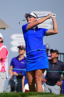 Brittany Lang (USA) watches her tee shot on 16 during Thursday's first round of the 72nd U.S. Women's Open Championship, at Trump National Golf Club, Bedminster, New Jersey. 7/13/2017.<br /> Picture: Golffile | Ken Murray<br /> <br /> <br /> All photo usage must carry mandatory copyright credit (&copy; Golffile | Ken Murray)