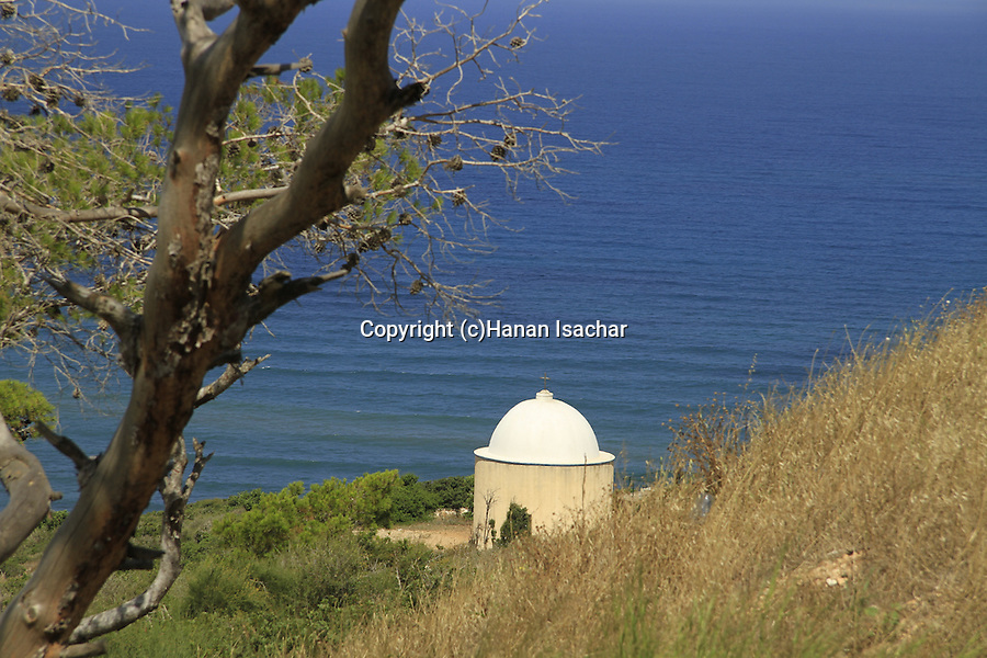 Haifa, the Holy Family Chapel on Mount Carmel overlooking the Mediterranean Sea