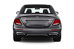 Straight rear view of 2019 Mercedes Benz E-Class AMG-E53 4 Door Sedan Rear View  stock images