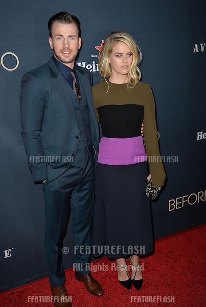 Alice Eve &amp; Chris Evans at the Los Angeles premiere of their movie &quot;Before We Go&quot; at the Arclight Theatre, Hollywood.<br /> September 2, 2015  Los Angeles, CA<br /> Picture: Paul Smith / Featureflash