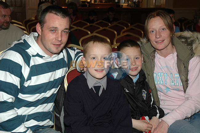 Pictured at the Dominican Wheel of Fortune were (from left) Anthony Smyth, Kieran, Jack and Nicola Newman all from St. Laurence's Park.<br />