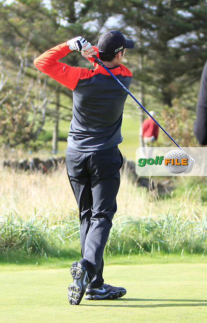 Ross Fisher (ENG) during Round 1of the Alfred Dunhill Links Championship at Kingsbarns Golf Club on Thursday 26th September 2013.<br /> Picture:  Thos Caffrey / www.golffile.ie