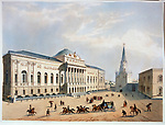 The Armoury Chamber in the Moscow Kremlin<br /> Artist: Gavarni, Paul (1804-1866)<br /> Museum: A.Pushkin Memorial Museum, St. Petersburg<br /> Method: Colour lithograph<br /> Created: 1840s<br /> School: France<br /> Trend in art: Classicism