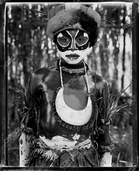 Member of the Ambtul village, from the Western Highlands Province at the annual 'Sing-Sing' festival, Mount Hagen, Papua New Guinea, August 2004.
