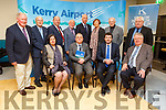 Pictured at Kerry Airport on Monday were seated l-r: Moira Murrell (CEO KCC), John Mulhern (new manager of Kerry Airport), Minister Brendan Griffin TD and Tomás Garvey (Garvey Group). Back l-r: Liam Chute, John O'Sullivan, Peter Moore, Bryan Cunningham, Gavin Baxter (Babcock), Kathleen O'Regan Sheppard, Matt Horgan, Denis Cregan (Chairman Kerry Airport).